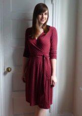 Maron rochie tricot cu un miros