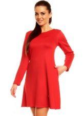 Rode jurk A-lijn