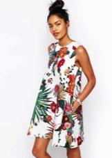 Trapeze kleuren jurk