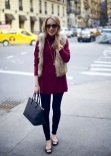 Tunic dress turtleneck