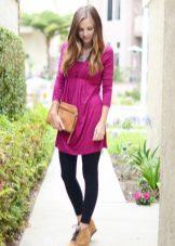 Tunic dress with high waist