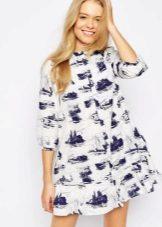 Dress tunic with print
