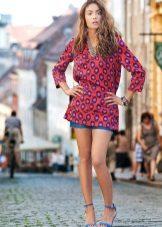 Klänning-tunika med shorts