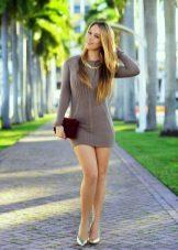 סריגה השמלה טוניקה