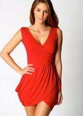 Rød tulipan kjole