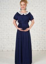 Дълга рокля за бременни жени