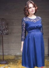Синя рокля за бременни жени