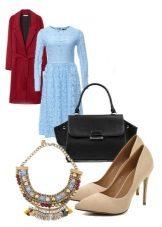 Lace kjole med flared nederdel og tilbehør til kvinder med figur af en pære