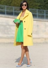 Coat to dress with high waist
