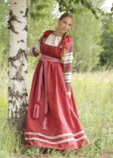 Russian sundress model with bodice