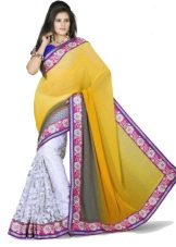 Indian lilac saree