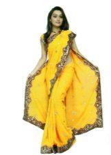 Sari vestido amarelo