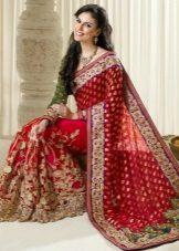 Saree Casamento Vermelho