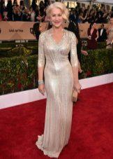 Helen Mirren in een jurk van Jenny Packham