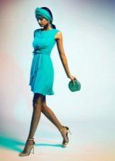 neulottu vihreä mekko lyhyt