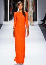 Oranžinė pavasario suknelė