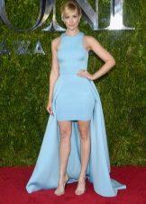 Mėlyna pavasario suknelė