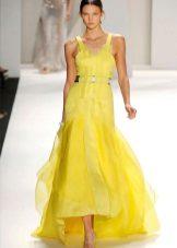 Geltona pavasario suknelė