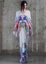 Pavasario suknelė su ilgomis rankovėmis