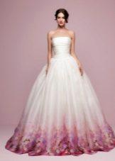 Vestuvių suknelė su spauda