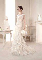 Dramblio kaulo vestuvių suknelė