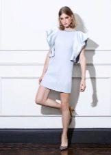 Spring mini dress na may sleeves