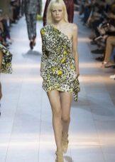 Spring dress asymmetrical short