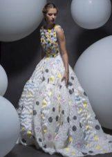Pavasario pūkuotas suknelė su spauda