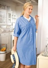 Linen Home Shirt Jurk voor vet