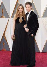 Eddie Redmain és felesége Hannah Bagshow az Oscars 2016-ban