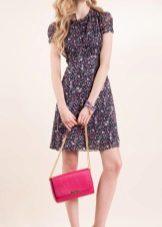 Цветна рокля от шифон