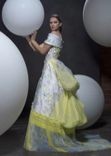 Klänning för prom med tryck