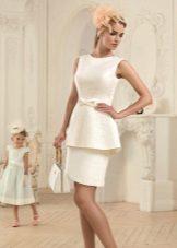 Vestido de verão com branco basky