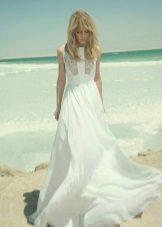 Vestido de verão no estilo do casamento boho