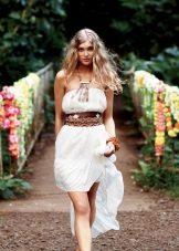 Lätt boho klänning med bälte