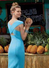 Лятна рокля синя