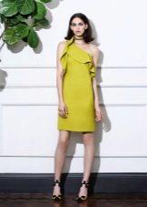 Vestido de verão mostarda