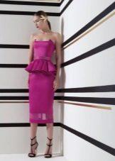 Vestido roxo brilhante