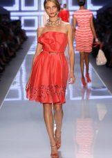 Розова рокля от коприна