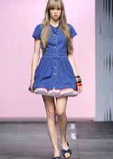 Лятна рокля детска кукла от дънки