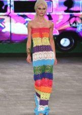 Цветна плетена лятна рокля