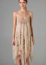 vestido de malha de verão