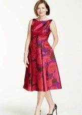 Vestido de verão para as mulheres 50 anos de midi
