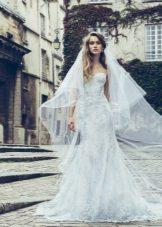 Лятна дантела сватбена рокля