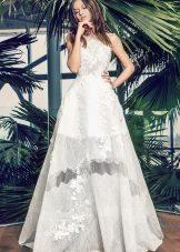 Bröllopsklänning sommar A-silhuett