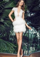 Vestido de noiva de verão curto