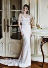Лятна сватбена рокля на ремъци