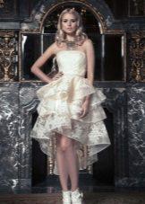 Casamento vestido de verão magnífico curto