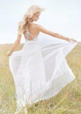 Sommar ljus brudklänning