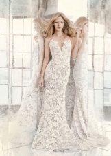Sommar spets bröllopsklänning